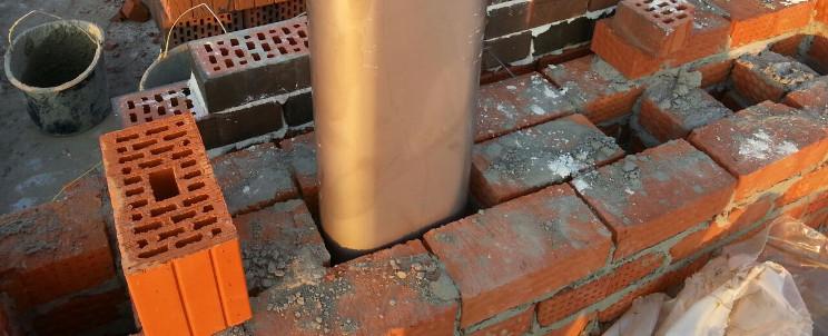 Цена загильзовка дымохода клей для сборки облицовки камина