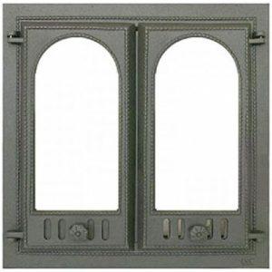 чугунная дверца для камина