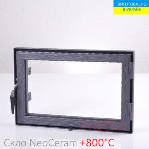 каминная дверца со стеклом, купить в украине